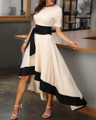 A-line Asymmetric Elegant Long Dress