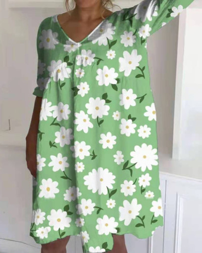 Casual Summer Floral Dress
