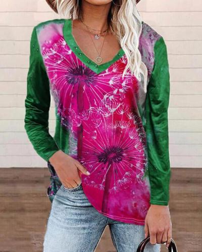 Dandelion Casual Long-sleeved Tops