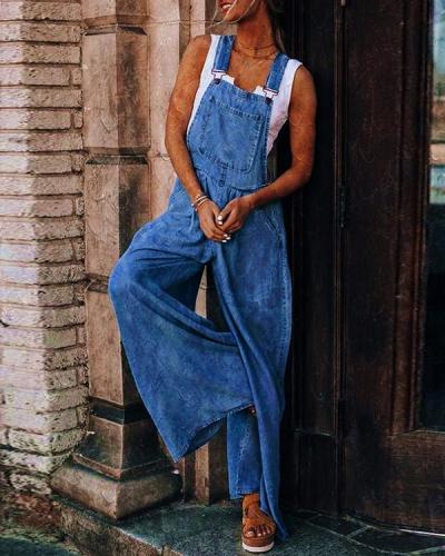 Good Day Wide Leg Overalls Jumpsuit