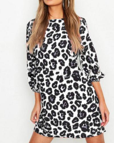 Leopard Print Everyday Casual Dress