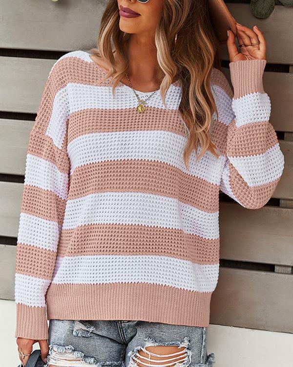 Autumn Fashion Striped Comfortable Sweater