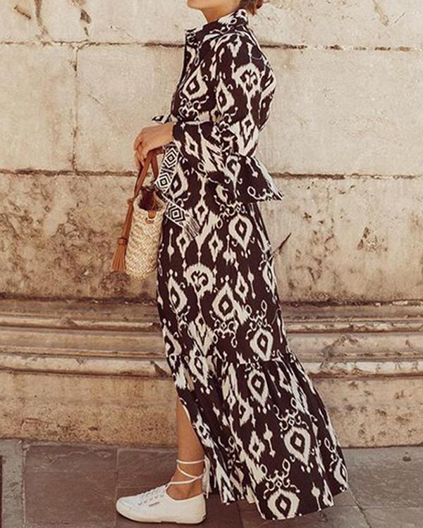 Printed Bohemian Swing Dress