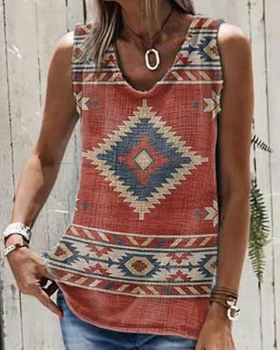 Tribe Totem Designer Women Sleeveless Vest
