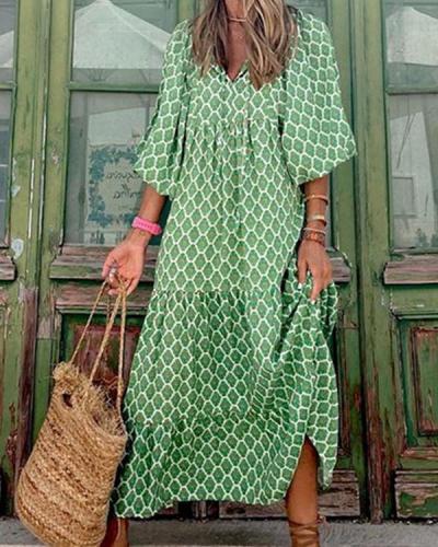 Bohemian Beauty Green Maxi Dress