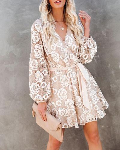 Bohemian Ruffled Women's Dress