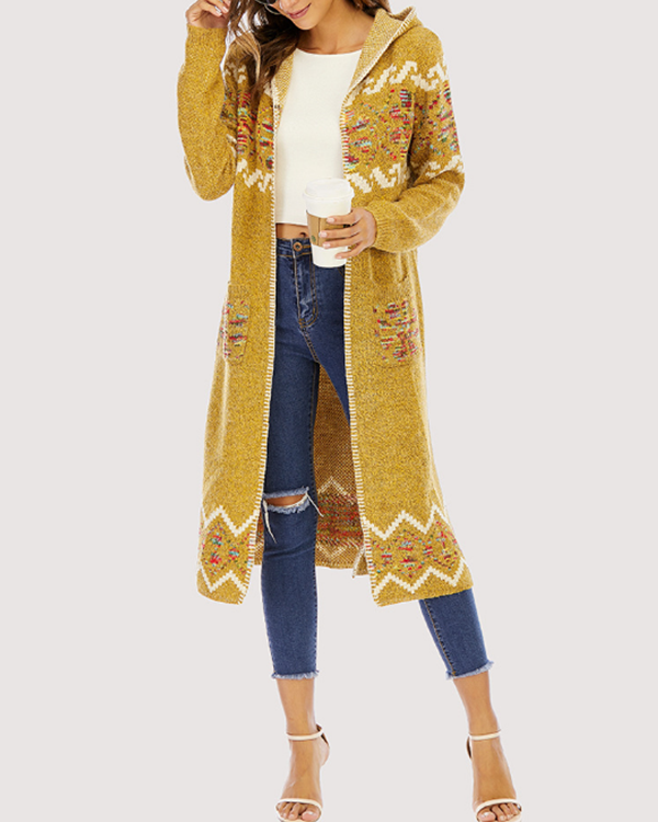 Vintage Long Bohemian Knitted Cardigan