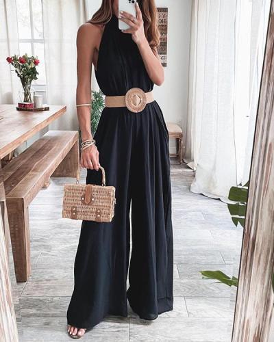 Fashion Isn Style Satin Jumpsuit
