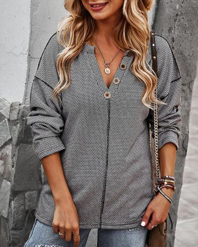 Women Casual Knitted Long-sleeved Top
