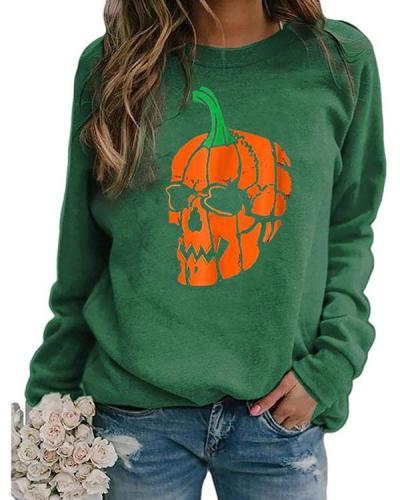 Halloween Print Sweatshirt