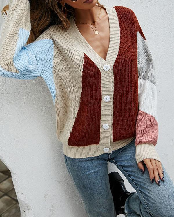 Stitching Fashion Knit Sweater