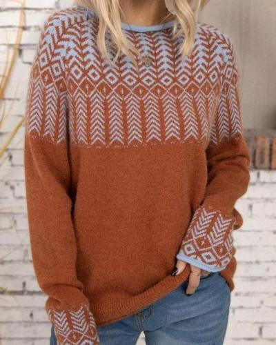 Pullover Crew Neck Cabin Holiday Sweater