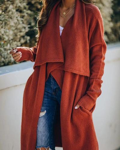 Long Fashionable Knitted Jacket