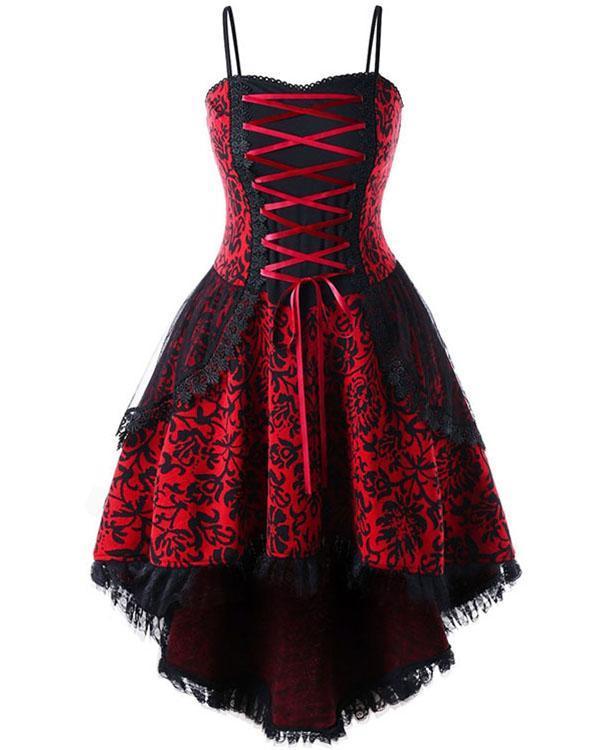 Plus Size Vintage 70s Cosplay Dress Spaghetti Strap Halloween Mini Dress
