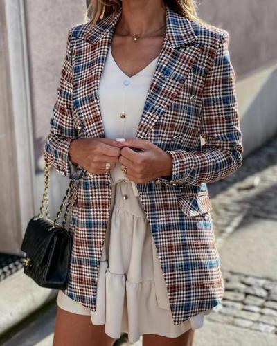 Fashion Suit Plaid Jacket