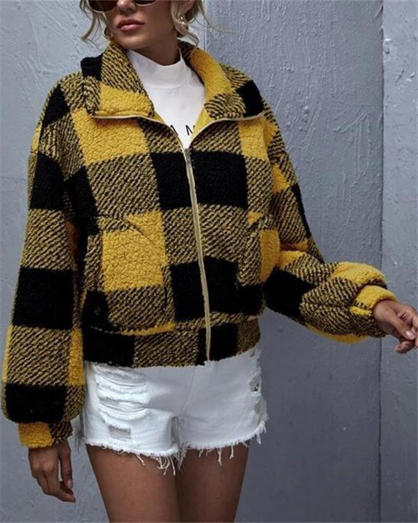 Stitching stitching medium fleece sweater