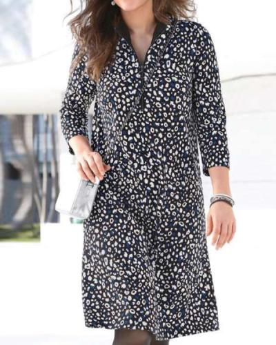 Casual Floral Long-sleeved Women's Dress