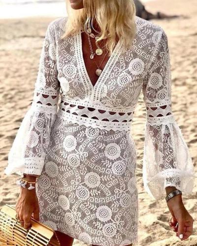 Standout Style Lace Mini Dress