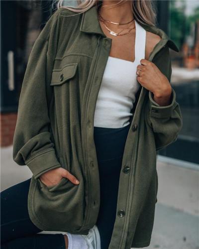 Fashion Long-sleeved Jacket Shirt Cardigan Sweater