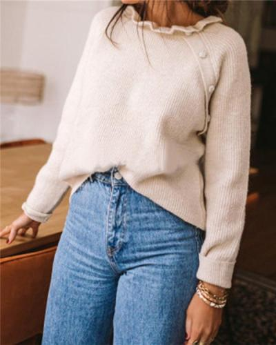 Autumn and Winter Warm Long-sleeved Wool Sweater