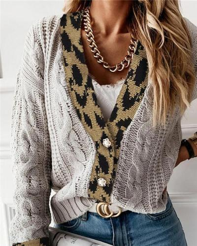 Cardigan Cotton Knit Single-breasted Sweater