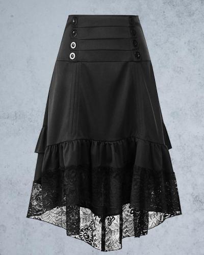 Halloween Vintage Lace Skirt