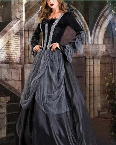 Halloween Vampire Witch Retro Palace Dress