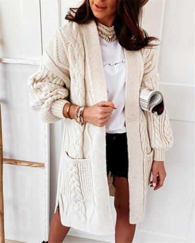 Soft sheep wool stretch-knit cardigan