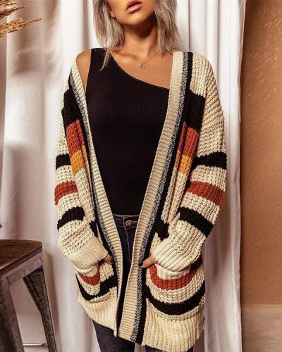 V-neck Long-sleeved Sweater Cardigan