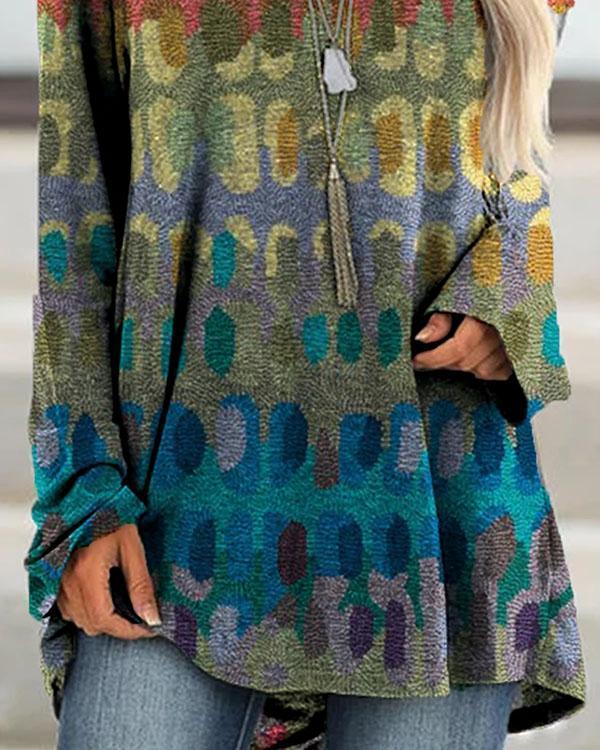 Boho Floral-Print Shift Shirts & Tops