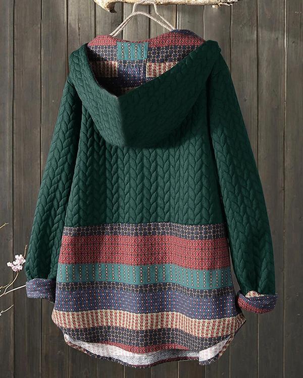 Ethnic Print Long-sleeved Women's Jacket