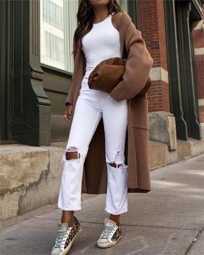 Street Fashion Long Coat Jacket