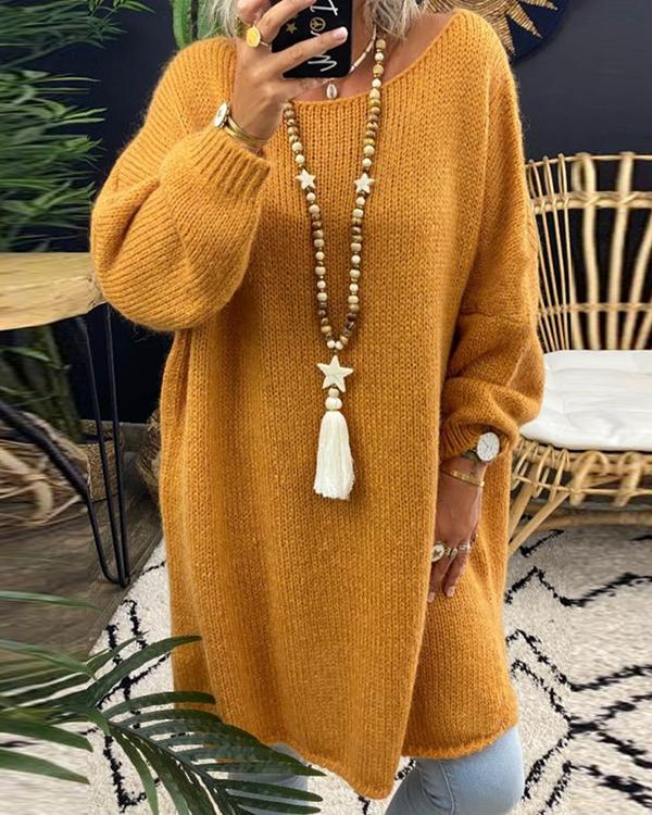 Knitted Fashion Sweater Loose