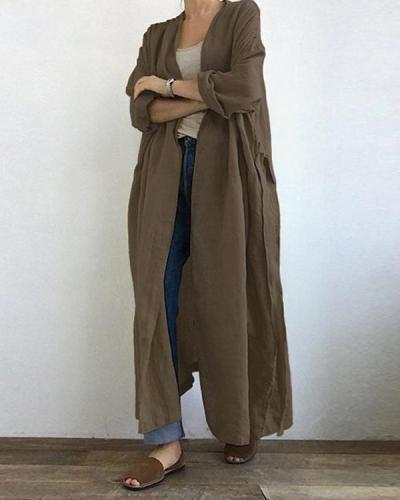 Casual Long-sleeved Shirt Long Coat