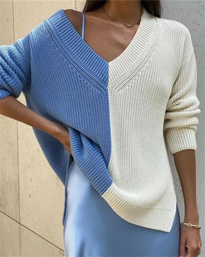 Lazy Casual Loose Knit Sweater Women