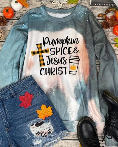 IT'S FALL Y'ALL Women's Pumpkin Print Holiday Pullover Sweatshirt