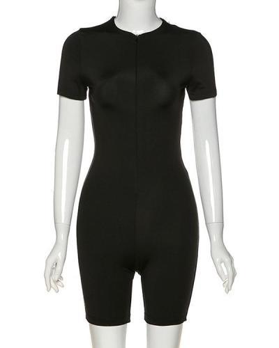Women's Suit Tight Zip Down Sports Rompers