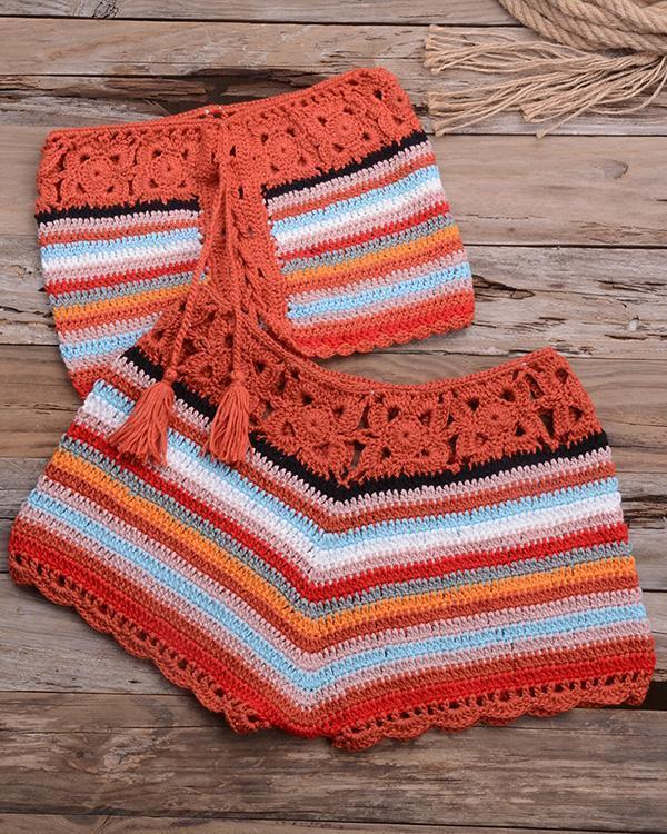 Pure Crochet Knitted Beach Bikini Set
