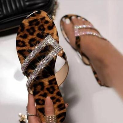 Leopard casual fashion beach sandals
