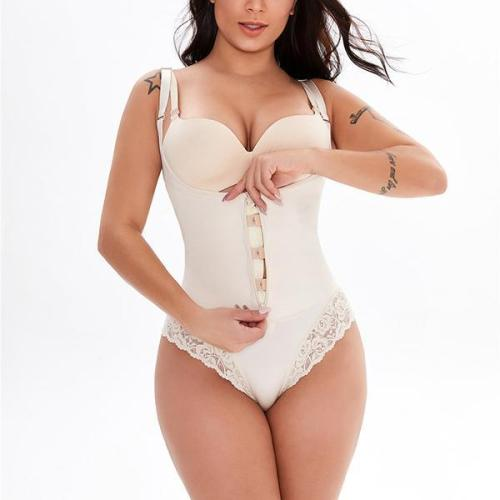 PLUS SIZE SEXY BUTT LIFTER LACE SHAPEWEAR BODYSUIT