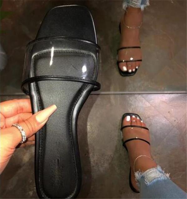 Flat Buckle Open Toe Sandals