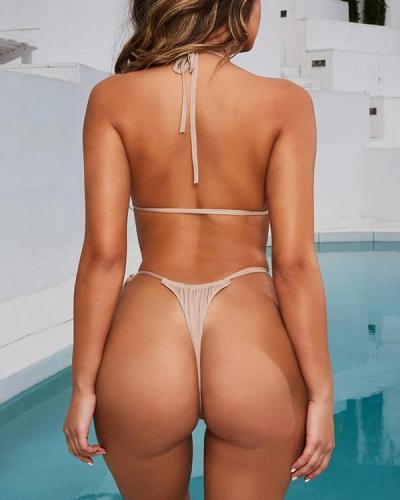 Women Halter Bikini Two Piece Swimsuit