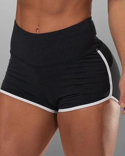 Solid Basic Binding Yoga Shorts