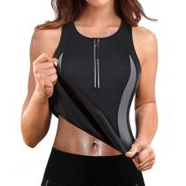 WOMEN NEOPRENE ZIPPER SPORTS VEST TOPS