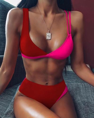 High Waist Two-pieces Bikini