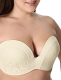 GREAT SUPPORT LACE STRAPLESS BRA