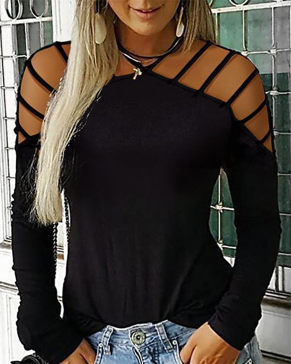 Women's Plus Size Solid Colored T-shirt Daily Halter Neck Tops