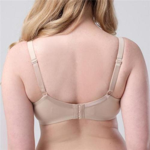 ADJUSTABLE PLUS SIZE WOMEN FIXED FULL COVERAGE BRASSIERE