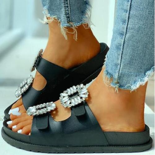 Open Toe Cutout Flat Slipper
