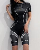 Women Summer Print Sportswear Top and Shorts Set